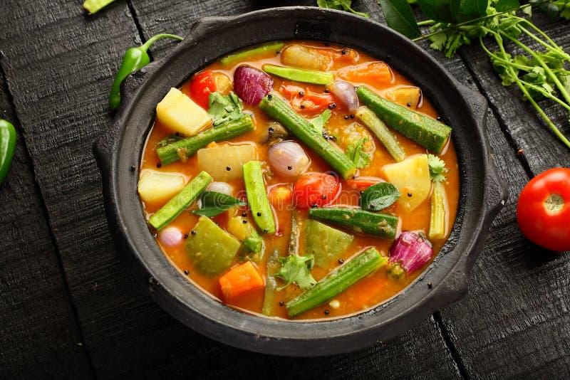 Sambar délicieux fait maison de cuisine du Kerala image stock