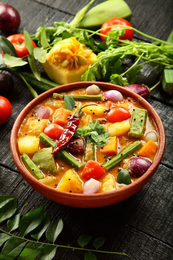 Sambar delicioso caseiro da culinária de Kerala foto de stock