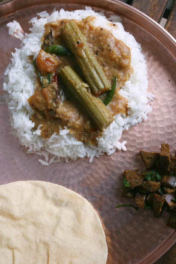 Sambar della bacchetta - una minestra di lenticchia da Tamilnad immagini stock