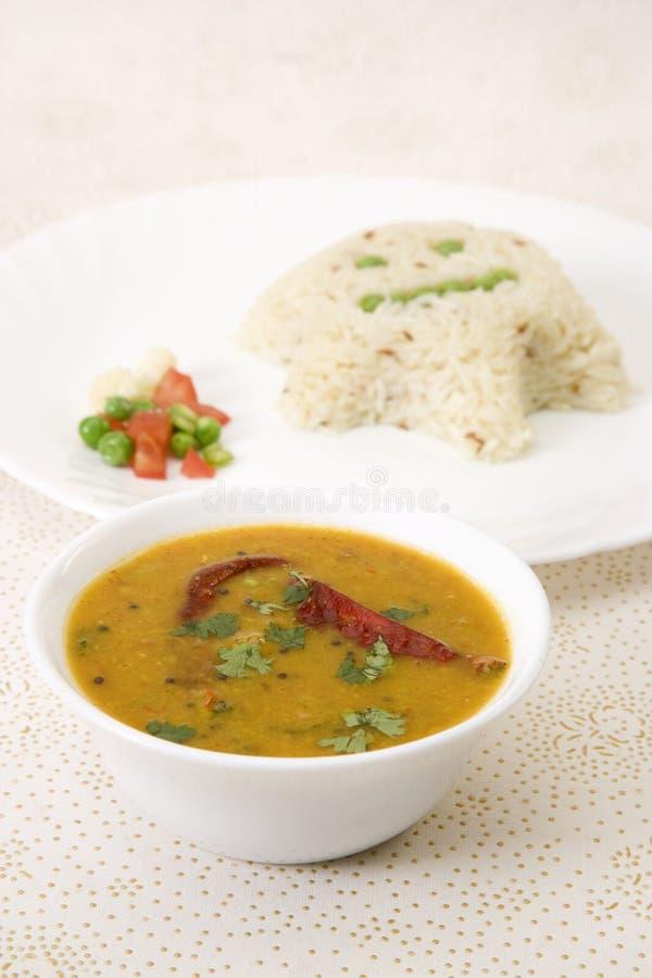 Sambar z Rice zdjęcie stock
