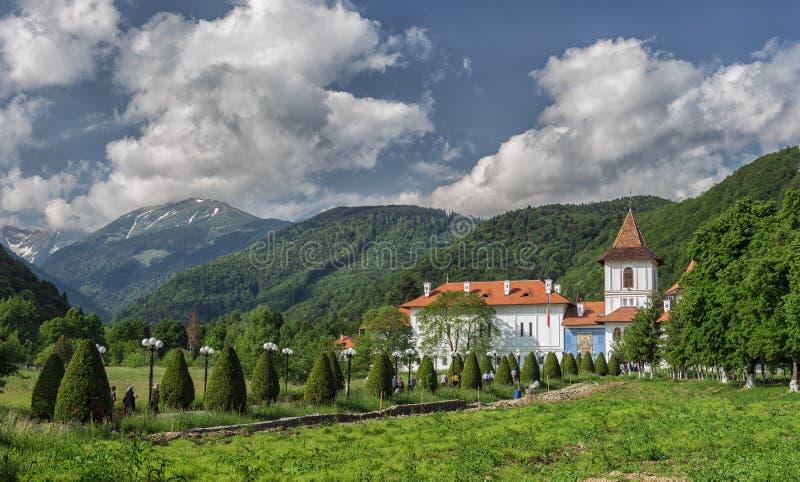 Sambata De Sus Monaster także znać jako Brancoveanu monaster zdjęcie royalty free