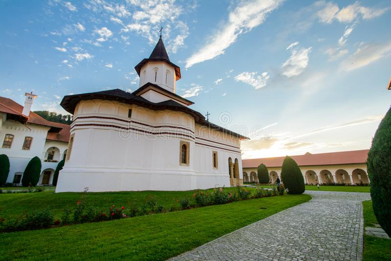 Sambata de Sus Monastery,罗马尼亚美丽的景色  免版税图库摄影