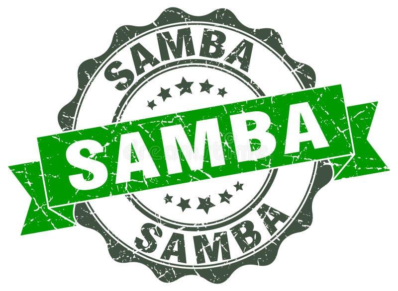 sambaverbinding zegel vector illustratie