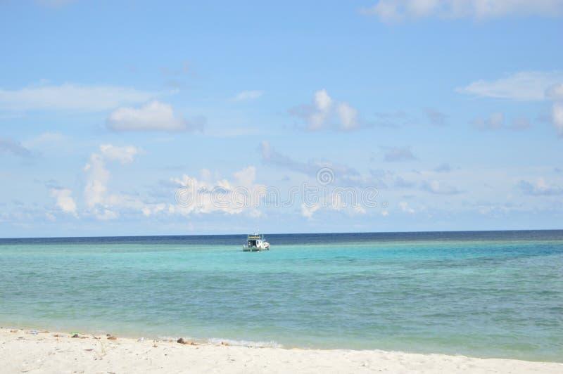 Samber Gelap海岛, Kotabaru,南婆罗洲,印度尼西亚 免版税库存照片