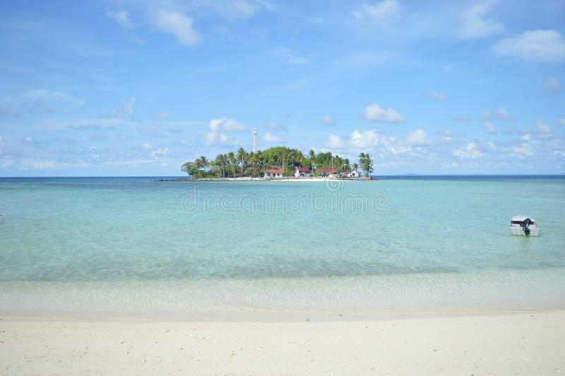 Samber Gelap ö, Kotabaru, södra Borneo, Indonesien royaltyfri foto
