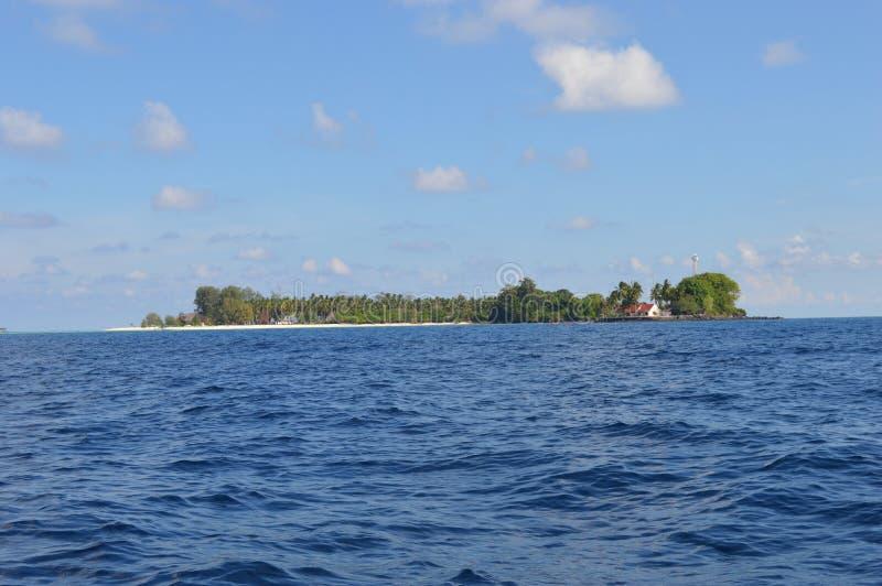 Samber Gelap ö, Kotabaru, södra Borneo, Indonesien arkivfoton