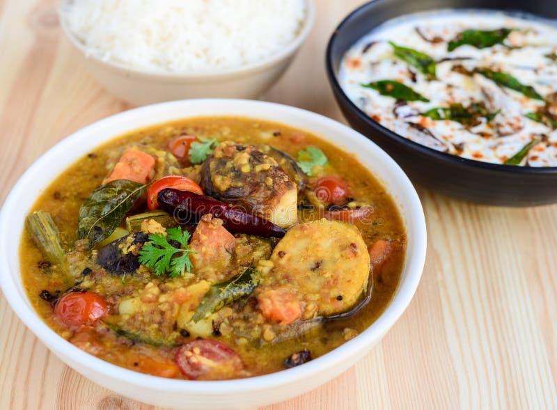 Sambhar Reis stockfoto