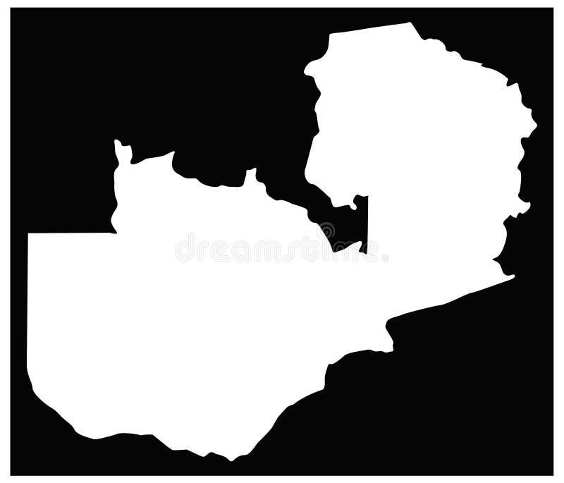 Sambia-Karte - Land in Süden-zentralem Afrika vektor abbildung