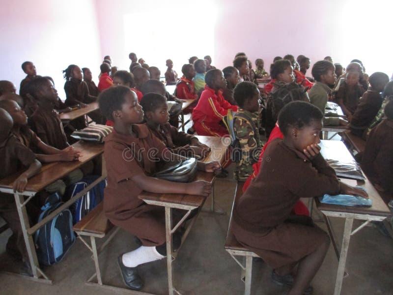 Sambiaklassenzimmer lizenzfreie stockfotografie