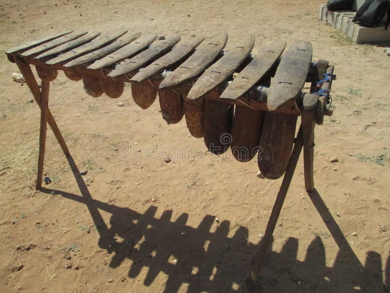 Sambianisches Xylophon lizenzfreie stockfotos