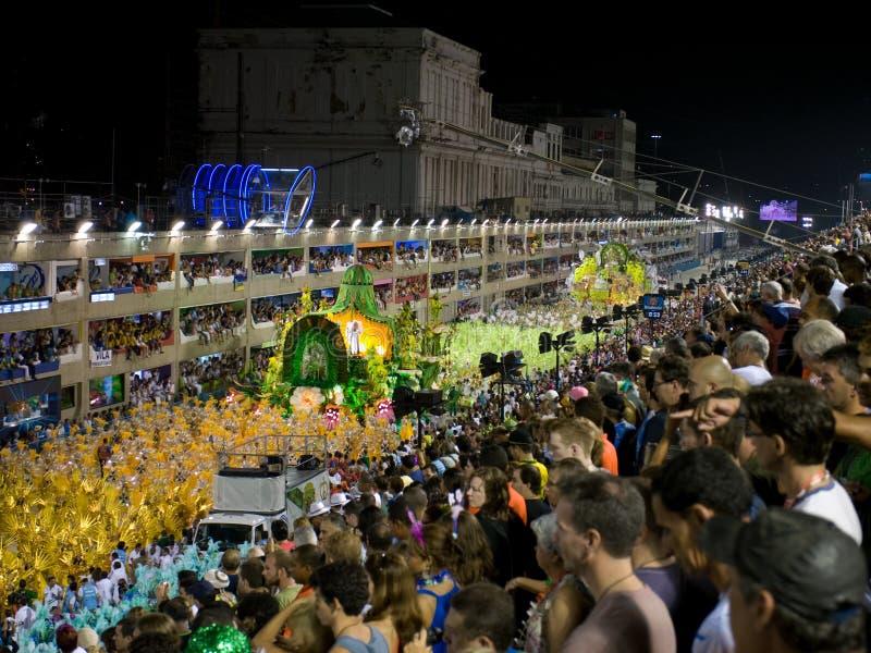 Sambodrome no carnaval de Rio, 008. fotografia de stock royalty free