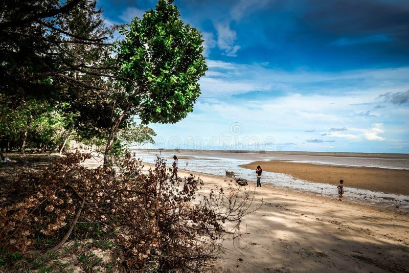 Samboja海滩 库存照片