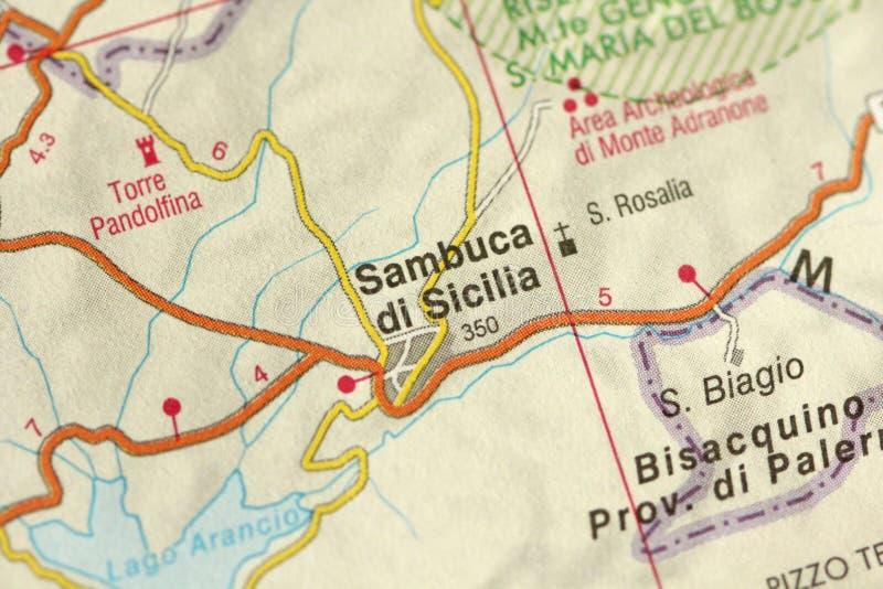 Sambuca di Sicilia programma Le isole della Sicilia, Italia fotografia stock