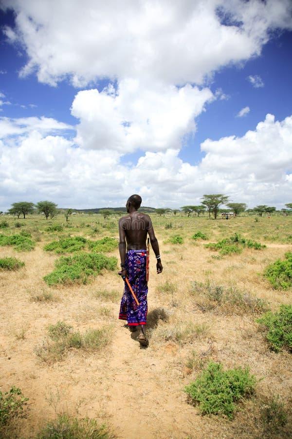 Samburu chief stock image