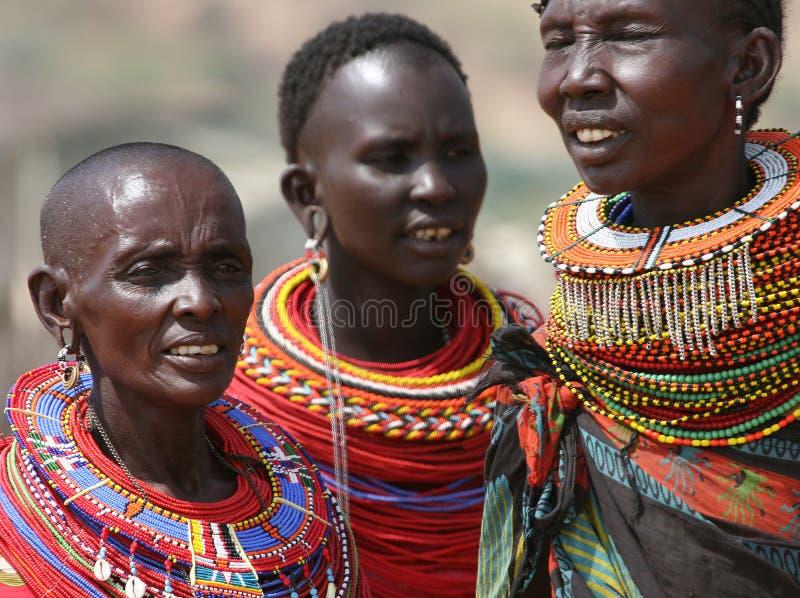 Samburu women in East Africa royalty free stock images
