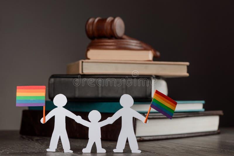 Same sex adoption stock image