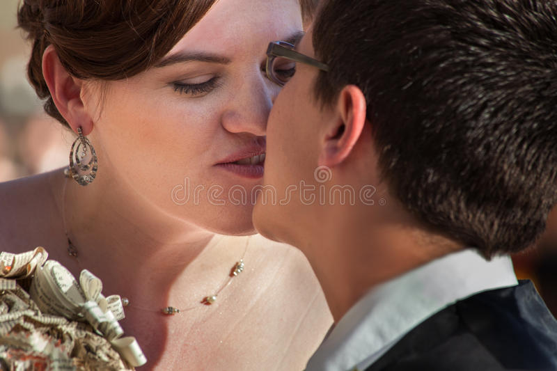 Same Sex Couple Kissing royalty free stock image