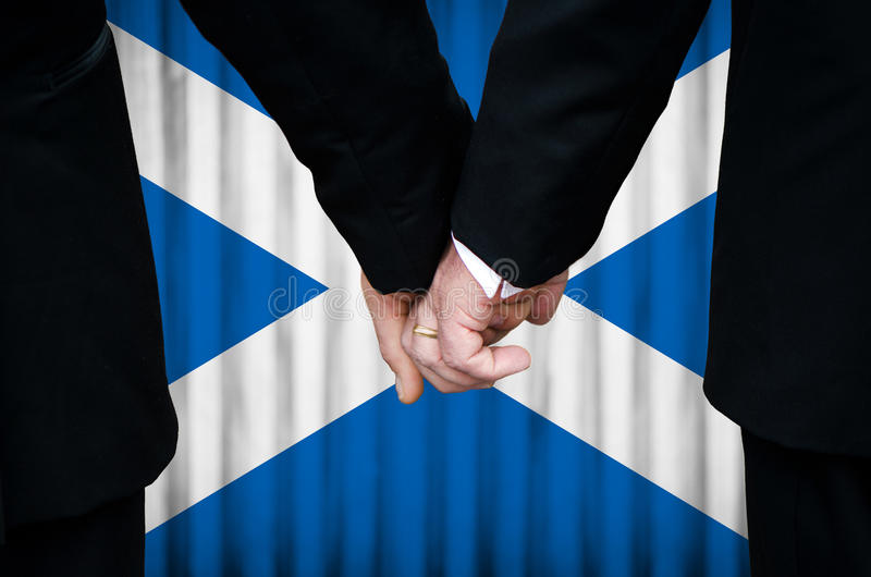 Same-Sex Marriage in Scotland royalty free stock image