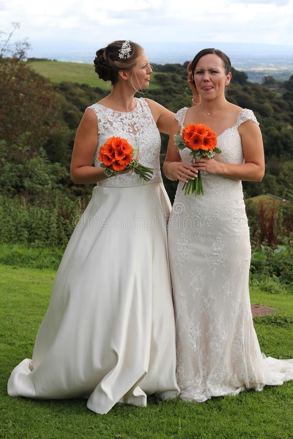 Same sex rural wedding royalty free stock photo