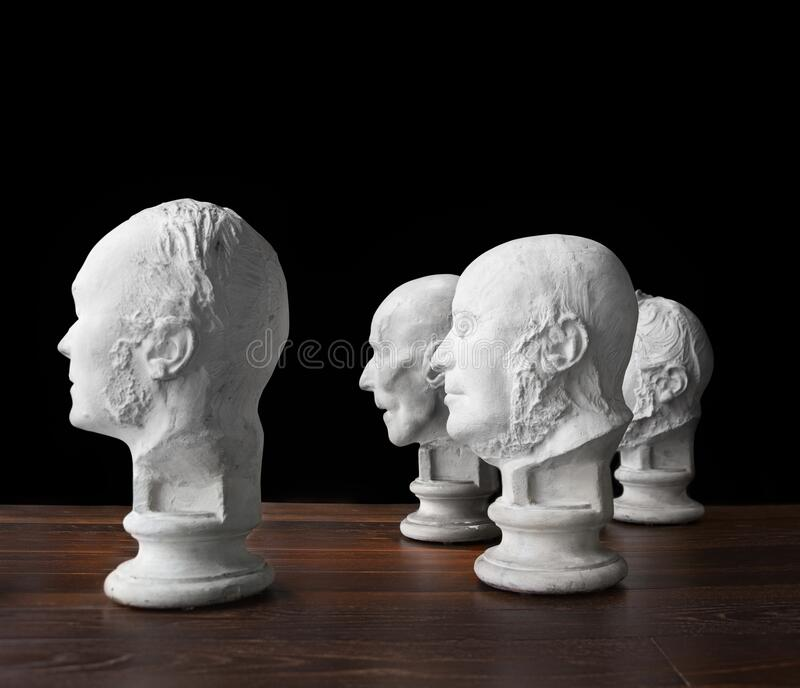 Same thought, Old boys club, brain power. White bread, conceptual, Wisdom of crowds royalty free stock image