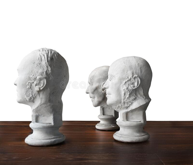 Same thought, Old boys club, brain power. White bread, conceptual, Wisdom of crowds royalty free stock images