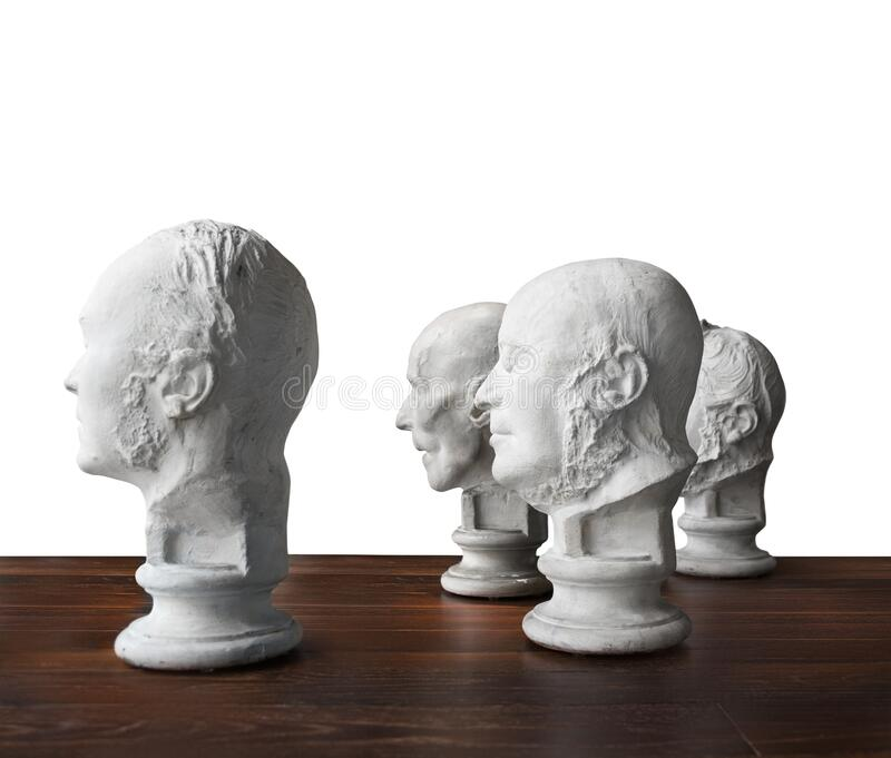 Same thought, Old boys club, brain power. White bread, conceptual, Wisdom of crowds stock photography