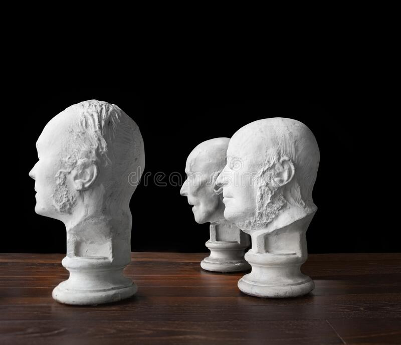 Same thought, Old boys club, brain power. White bread, conceptual, Wisdom of crowds stock photo