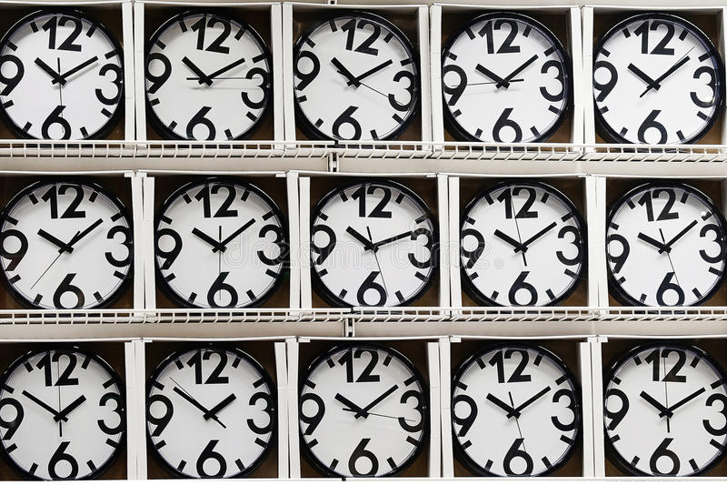 The same wall clock stock photo