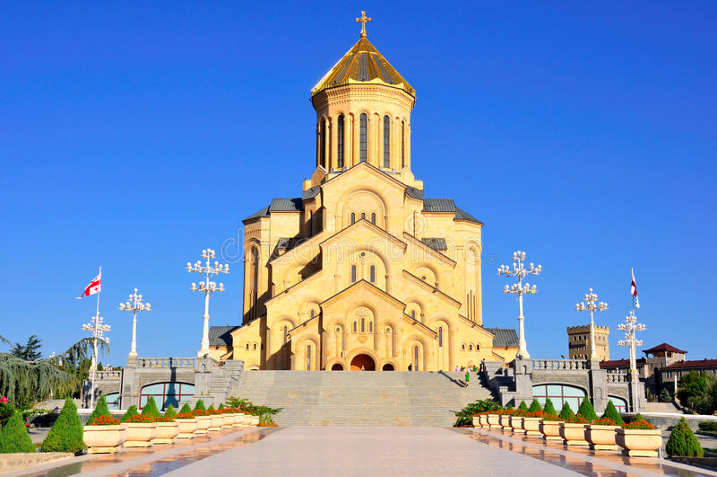 Sameba Święta Trójcy Katedra Tbilisi, Gruzja zdjęcie stock