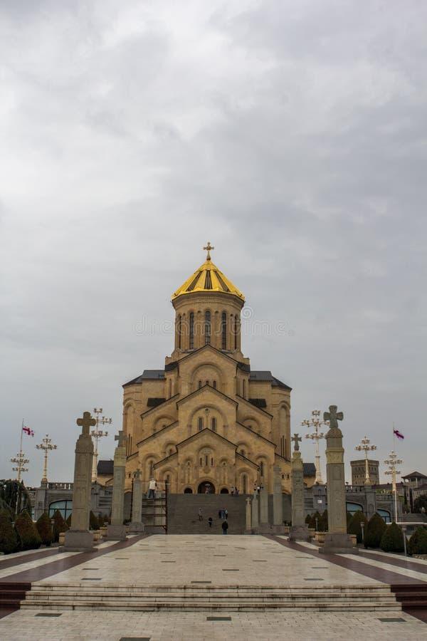 Sameba Georgia Tbilisi 2018 di Tsminda fotografie stock libere da diritti