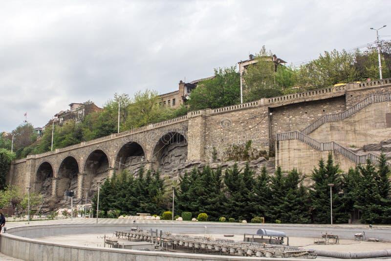 Sameba Georgia Tbilisi 2018 di Tsminda fotografia stock