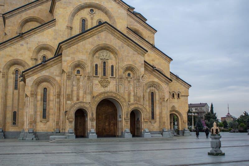 Sameba Georgia Tbilisi 2018 di Tsminda immagini stock libere da diritti