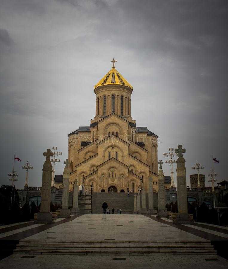 Sameba Georgia Tbilisi 2018 di Tsminda immagine stock
