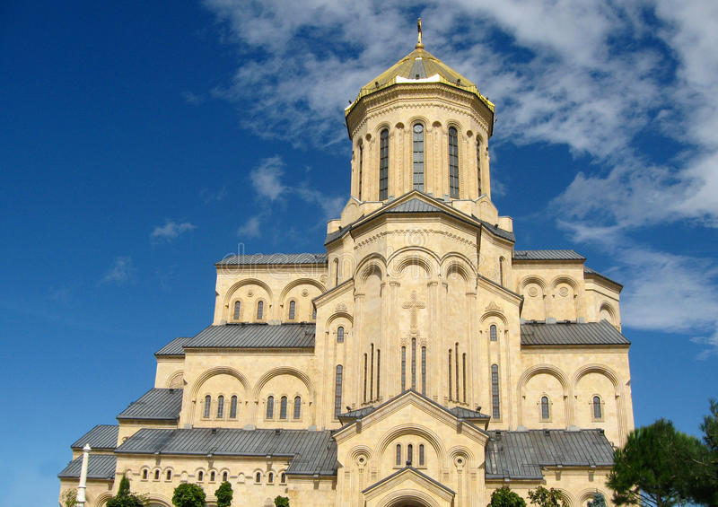 Sameba Holy Trinity Cathedral, Tbilisi royalty free stock image