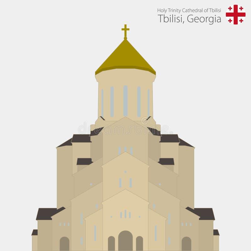 Sameba kościół, Świętej trójcy Tbilisi katedra Gruzja royalty ilustracja