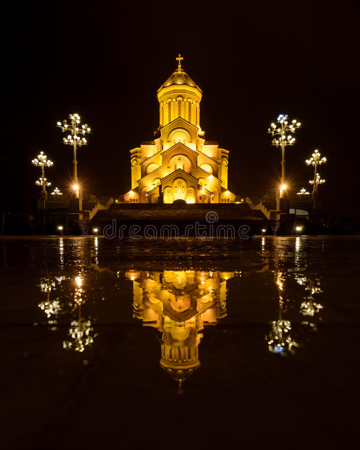 Sameba, St. Trinity cathedral in Tbilisi, Georgia. St. Trinity cathedral in Tbilisi, Georgia , Sameba Church royalty free stock photos