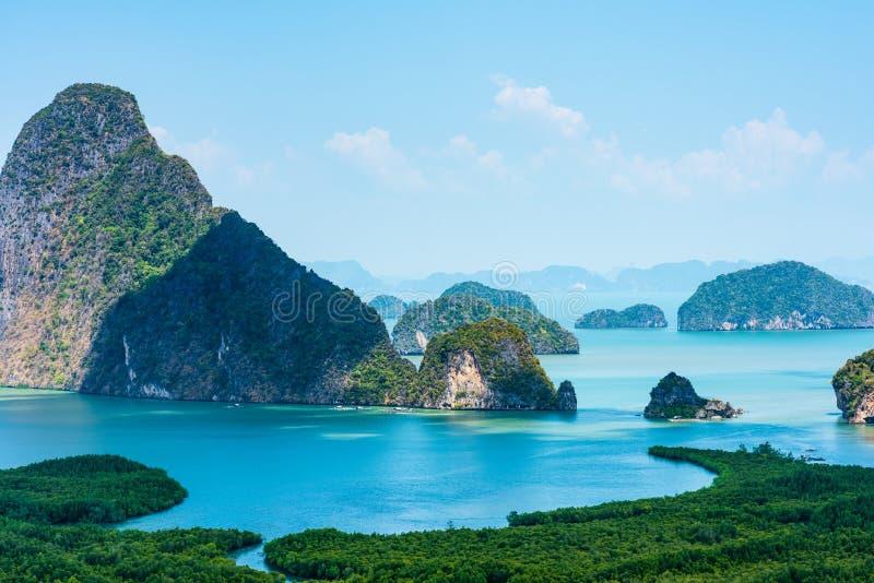 Samed nang chee at phang nga province, Thailand royalty free stock image
