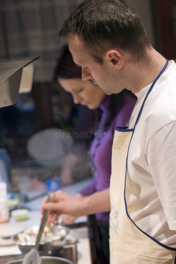 Samen het koken stock afbeelding