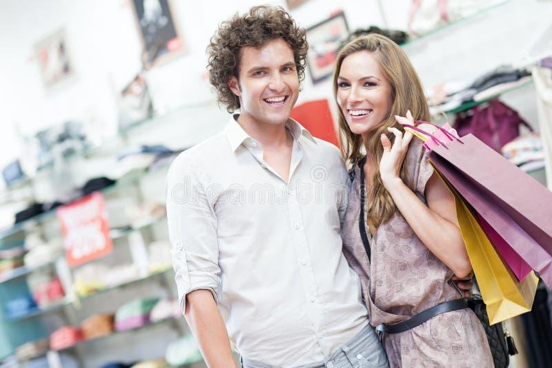 Samen het winkelen stock fotografie