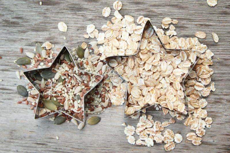 Samen und Getreide stockbilder