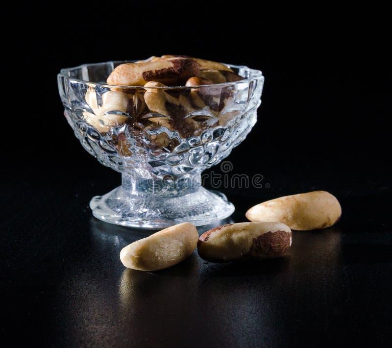 Samen von Paranüssen stockfotos