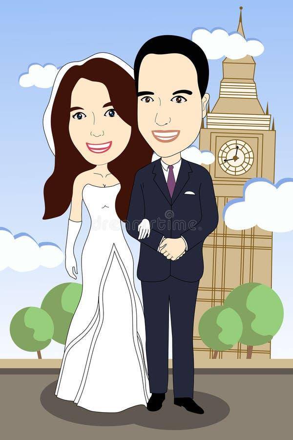Samen voor altijd royalty-vrije illustratie