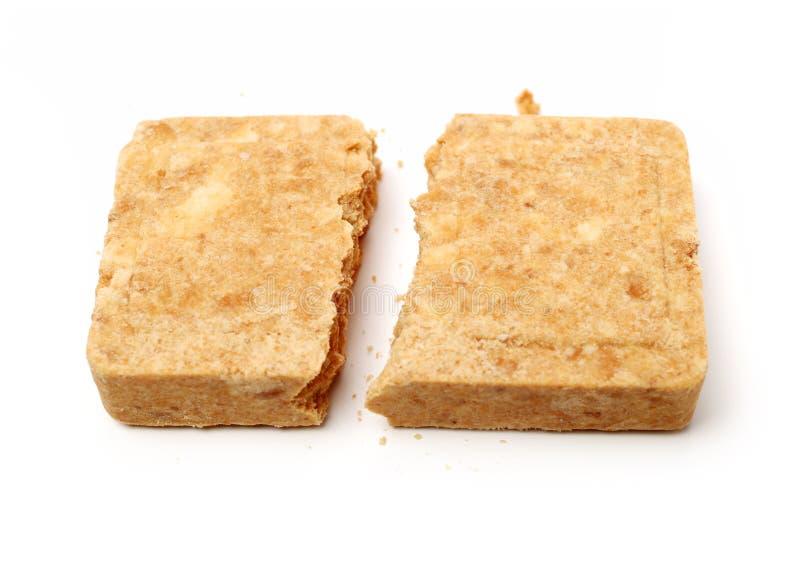 Samengeperst koekjesvoedsel royalty-vrije stock afbeelding
