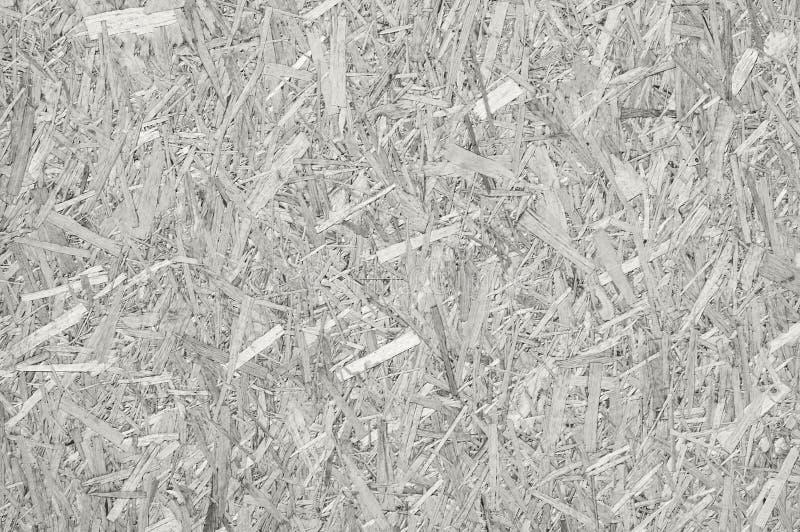 Samengeperste gerecycleerde spaanplaat, witte horizontale houten textuur royalty-vrije stock foto's