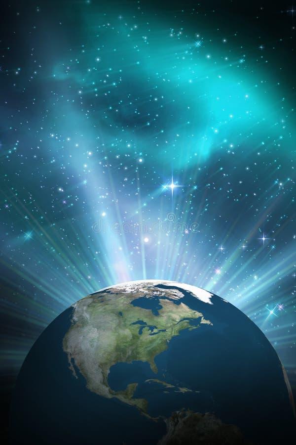 Samengesteld beeld van aarde vector illustratie