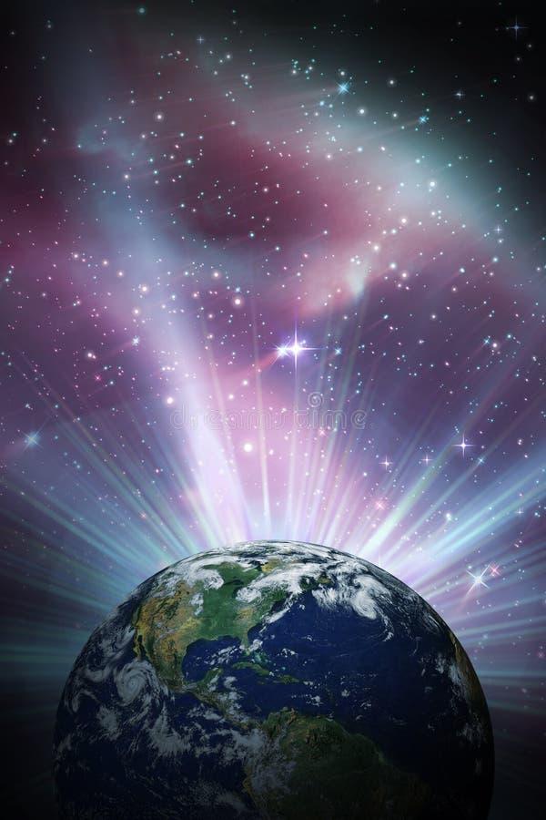 Samengesteld beeld van aarde stock illustratie