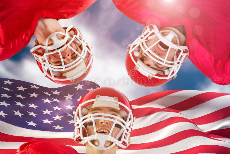 Samengesteld beeld van Amerikaanse voetbalwirwar royalty-vrije stock foto