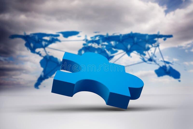 Samengesteld beeld van blauwe figuurzaag royalty-vrije illustratie