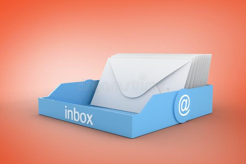 Samengesteld beeld van blauwe inbox vector illustratie