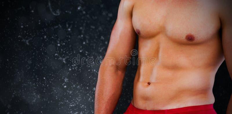 Samengesteld beeld van bodybuilder vector illustratie